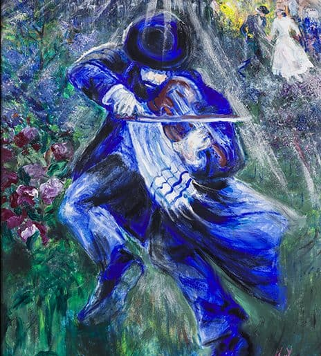 Contemporary Judaica Art - Violinist 8 AR